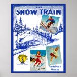 Poster del viaje del tren de la nieve del
