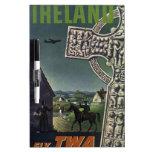 Poster del viaje del TWA Irlanda del vintage Pizarra
