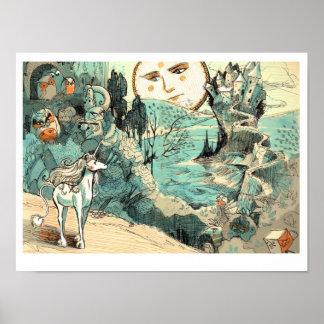 Poster del viaje del unicornio