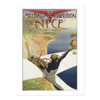 Poster del viaje del vintage, aeroplano postales