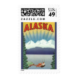 Poster del viaje del vintage, Alaska