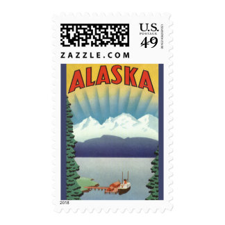 Poster del viaje del vintage Alaska