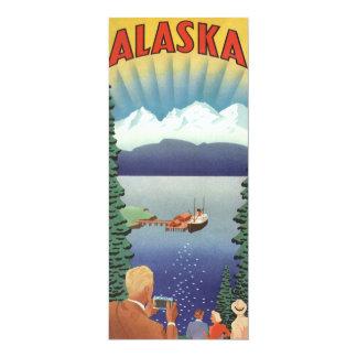"""Poster del viaje del vintage, Alaska Invitación 4"""" X 9.25"""""""