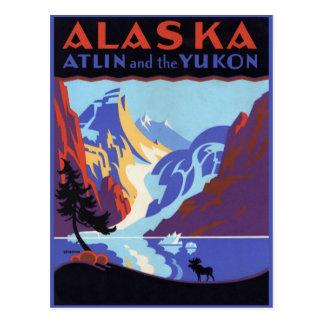 Poster del viaje del vintage, Atlin y el Yukón, Postales