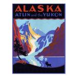 Poster del viaje del vintage, Atlin y el Yukón, Postal