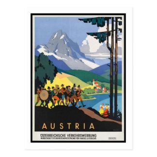 Poster del viaje del vintage, Austria Postal