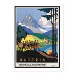Poster del viaje del vintage, Austria Tarjetas Postales