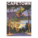 Poster del viaje del vintage, Cape Town, Suráfrica Anuncio Personalizado