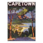 Poster del viaje del vintage, Cape Town, Suráfrica Tarjetón