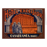 Poster del viaje del vintage, Casablanca, Tarjetas
