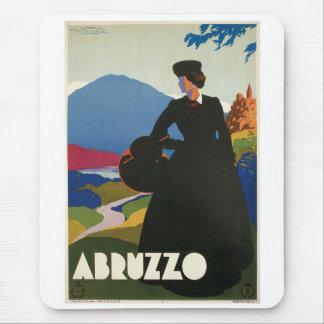 Poster del viaje del vintage de Abruzos Italia Alfombrillas De Ratón