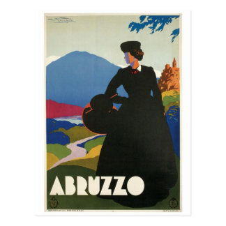 Poster del viaje del vintage de Abruzos, Italia Tarjeta Postal
