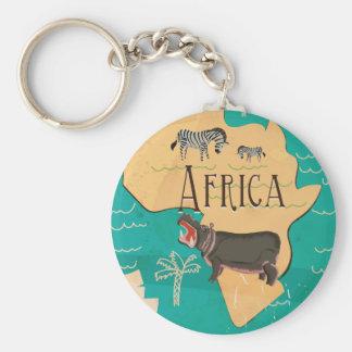 Poster del viaje del vintage de África de la Llavero Redondo Tipo Pin