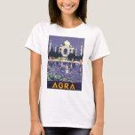Poster del viaje del vintage de Agra Playera