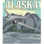 Poster del viaje del vintage de Alaska Fotoescultura Vertical