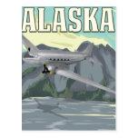 Poster del viaje del vintage de Alaska Tarjetas Postales