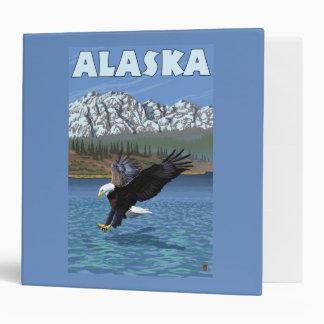 "Poster del viaje del vintage de AlaskaBald Eagle Carpeta 2"""