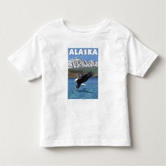 Poster del viaje del vintage de AlaskaBald Eagle Playera