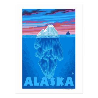 Poster del viaje del vintage de AlaskaIceberg Postal
