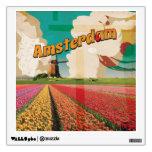 Poster del viaje del vintage de Amsterdam