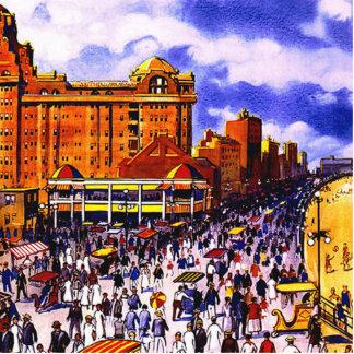 Poster del viaje del vintage de Atlantic City