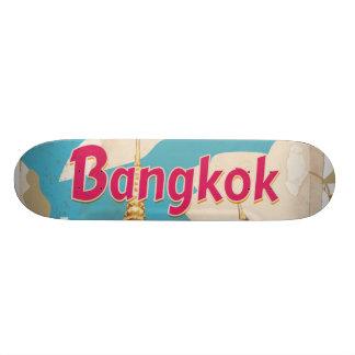 "Poster del viaje del vintage de Bangkok Patineta 8 1/2"""