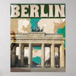 Poster del viaje del vintage de Berlín