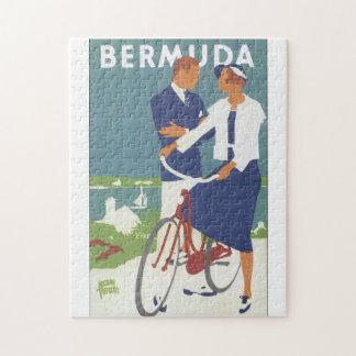 Poster del viaje del vintage de Bermudas Puzzle