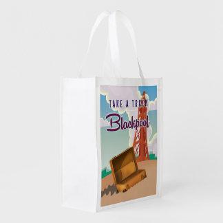 Poster del viaje del vintage de Blackpool Bolsa Reutilizable