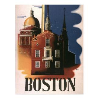 Poster del viaje del vintage de Boston Massachuse Postal