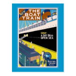 """Poster del viaje del vintage de """"Boston y de Postal"""