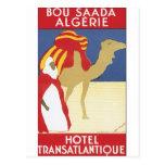 Poster del viaje del vintage de Bou Saada Algerie Postal