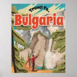Poster del viaje del vintage de Bulgaria