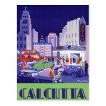 Poster del viaje del vintage de Calcutta Postal