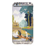 Poster del viaje del vintage de Cambridge Funda De iPhone 6 Barely There