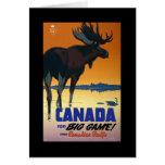 Poster del viaje del vintage de Canadá en las tarj Tarjeta