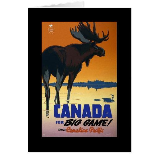 Poster del viaje del vintage de Canadá en las Tarjeta De Felicitación