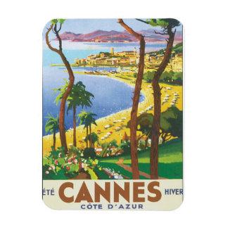 Poster del viaje del vintage de Cannes Cote d'Azur Imanes Flexibles