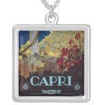 Poster del viaje del vintage de Capri, Italia Joyerias Personalizadas