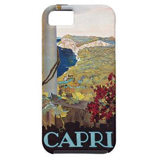 Poster del viaje del vintage de Capri, Italia iPhone 5 Funda