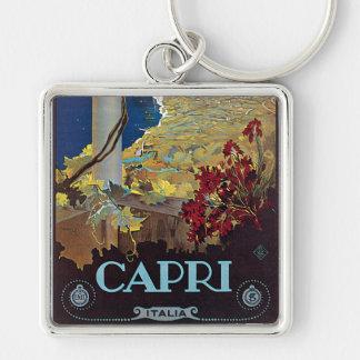 Poster del viaje del vintage de Capri Italia Llaveros Personalizados