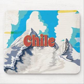 Poster del viaje del vintage de Chile Alfombrillas De Ratón