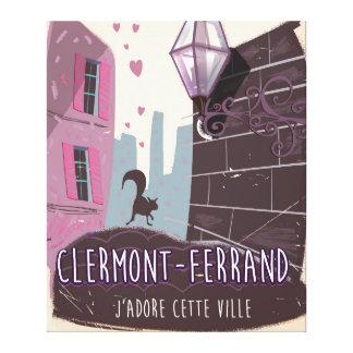 Poster del viaje del vintage de Clermont-Ferrand Impresión En Lienzo