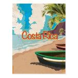 Poster del viaje del vintage de Costa Rica Tarjeta Postal