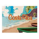 Poster del viaje del vintage de Costa Rica Tarjetas Postales