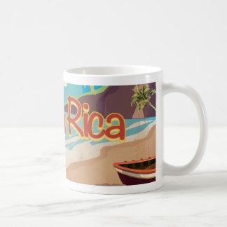 Poster del viaje del vintage de Costa Rica Taza Clásica