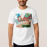 Poster del viaje del vintage de Cuba Playera