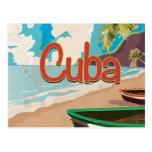 Poster del viaje del vintage de Cuba Postal