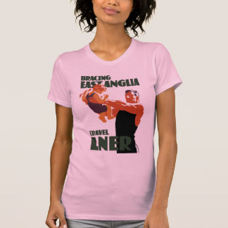Poster del viaje del vintage de East Anglia que Camiseta