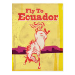 Poster del viaje del vintage de Ecuador Postal